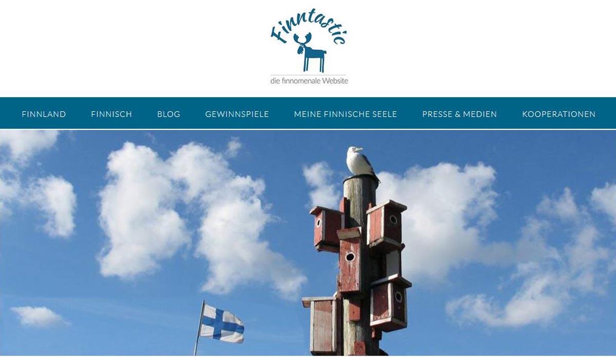 Screenshot Finnlandblog Finntastic
